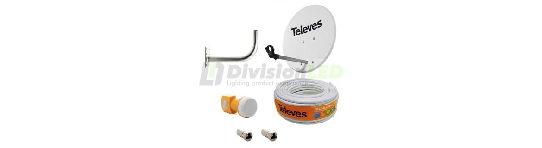 Kits Televisión Satélite Completos Televes - DivisionLED